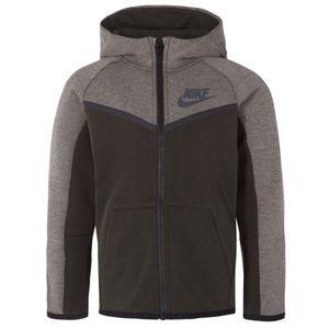 Nike Tech Fleece Full Zip grey Hoodie kids small